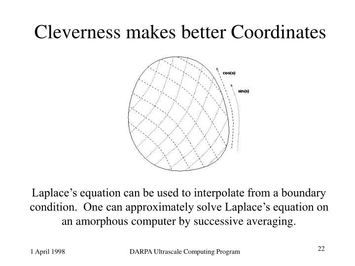Cleverness makes better Coordinates