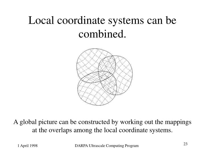 Local coordinate systems can be combined.