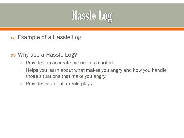 Hassle Log