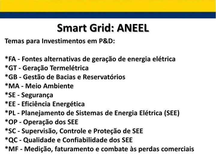 Smart Grid: ANEEL