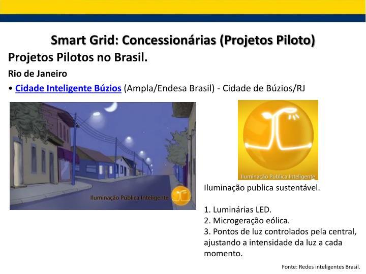 Smart Grid: Concessionárias (Projetos Piloto)