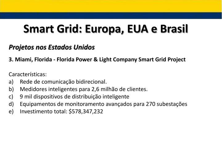 Smart Grid: Europa, EUA e Brasil