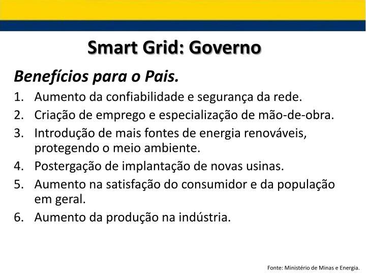Smart Grid: Governo