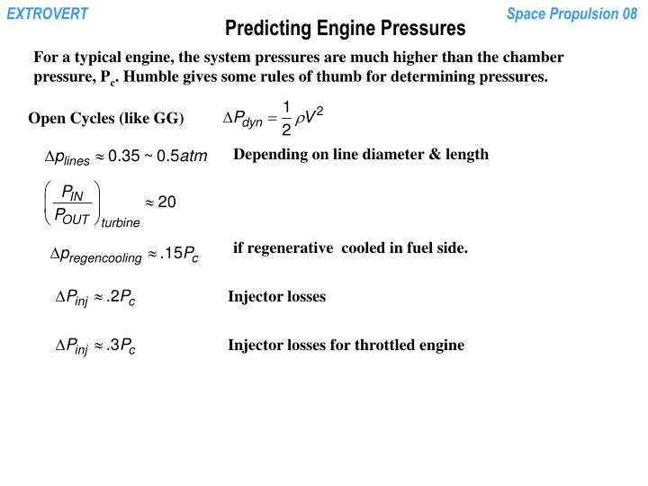 Predicting Engine Pressures