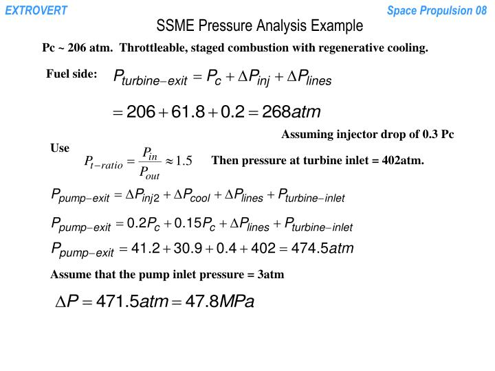 SSME Pressure Analysis Example