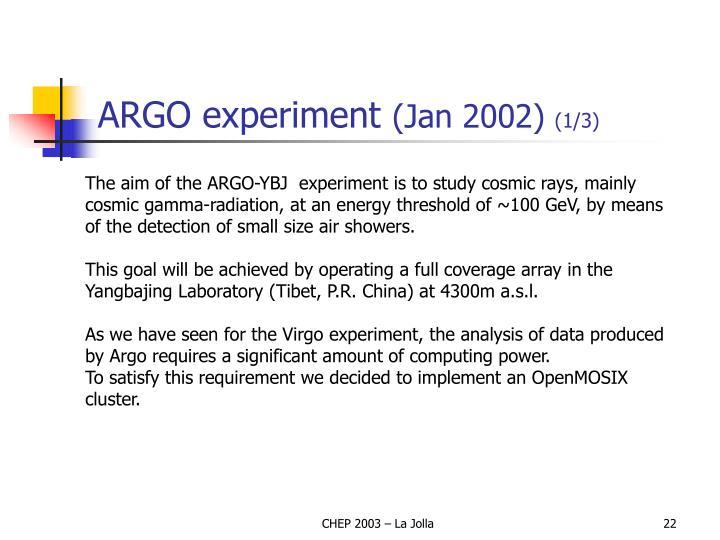 ARGO experiment
