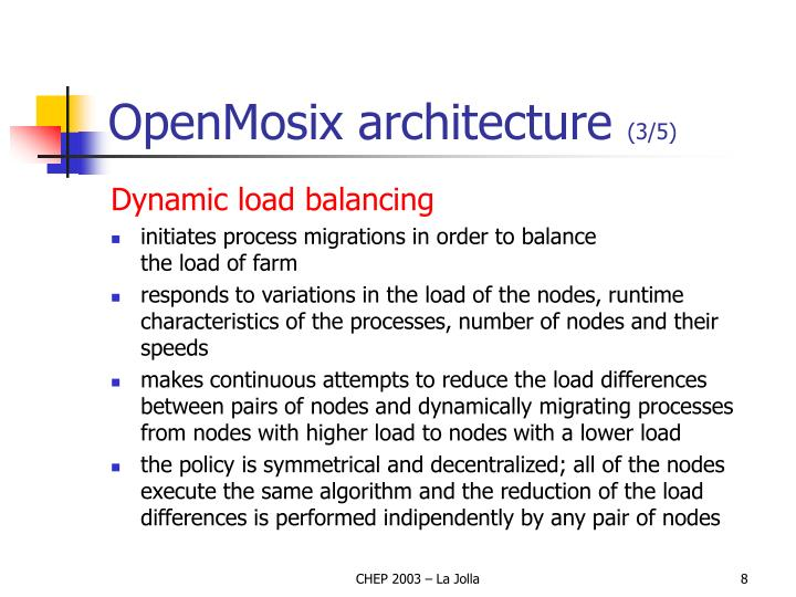 OpenMosix architecture