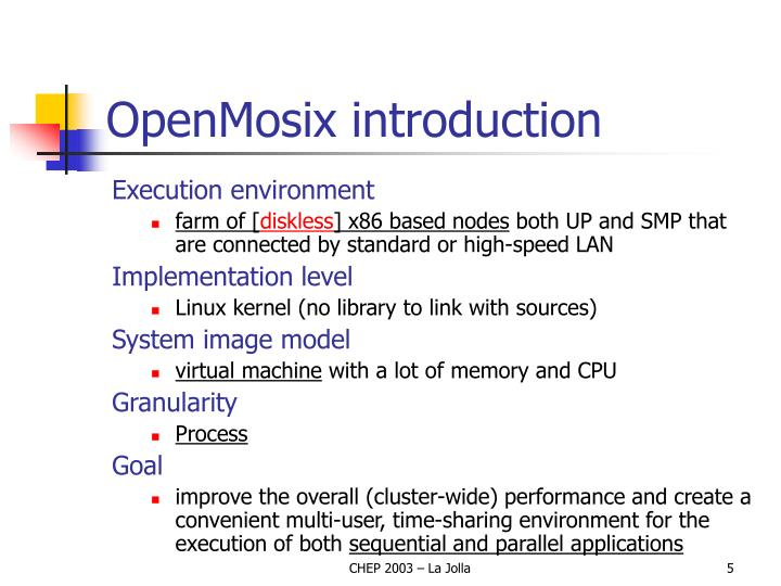 OpenMosix introduction