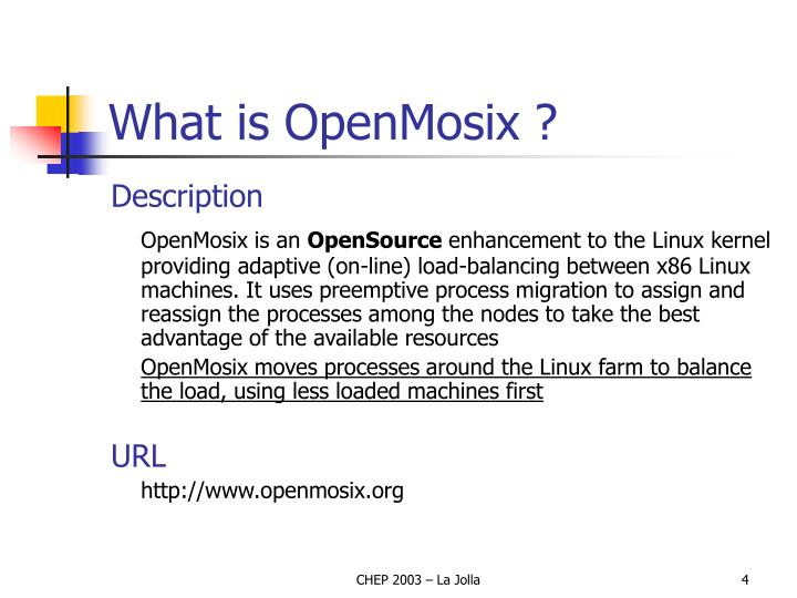 What is OpenMosix ?