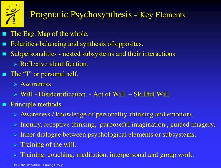 "psychosynthesis exercise A psychosynthesis exercise many people have been able to find within themselves the center of identity which is uniquely them as the article ""identity and many people have been able to find within themselves the center of identity which is uniquely them."