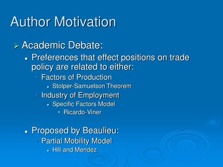 Author Motivation