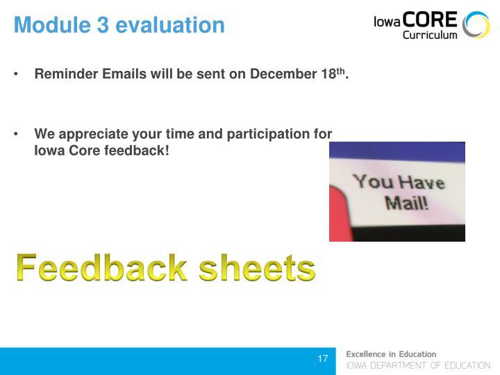 Module 3 evaluation