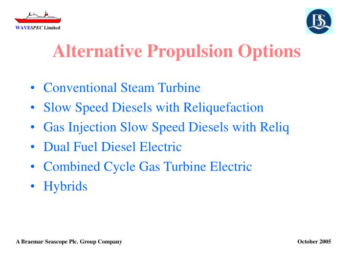 Alternative Propulsion Options