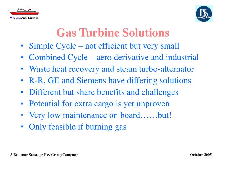 Gas Turbine Solutions