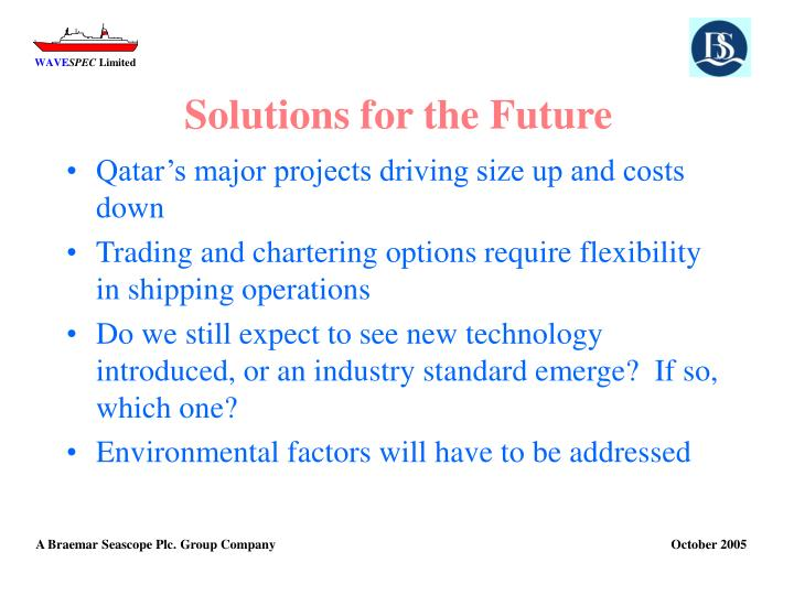 Solutions for the Future