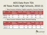 aeis data from tea all texas public high schools 2010 113