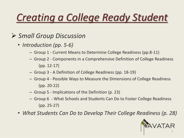 Creating a College Ready Student