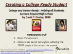 creating a college ready student2