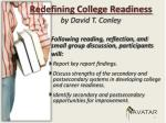 redefining college readiness by david t conley