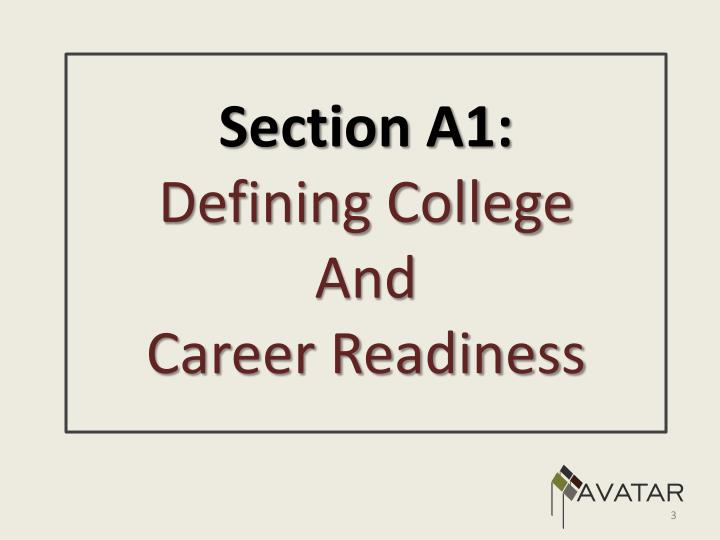 Section A1: