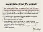 suggestions from the experts1