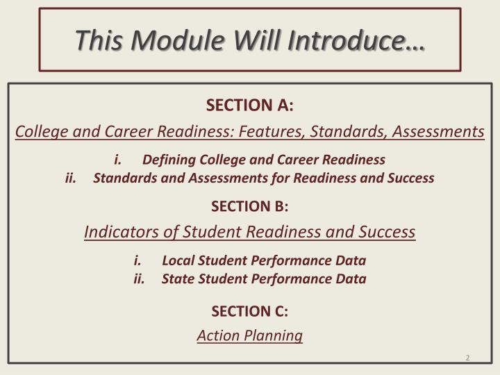 This Module Will Introduce…