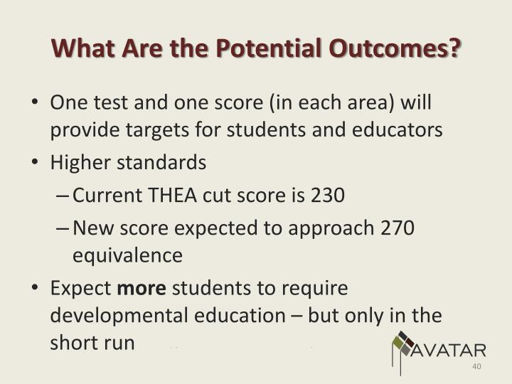 What Are the Potential Outcomes?