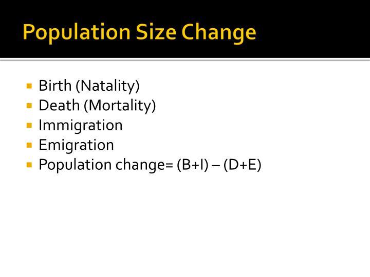 Population Size Change