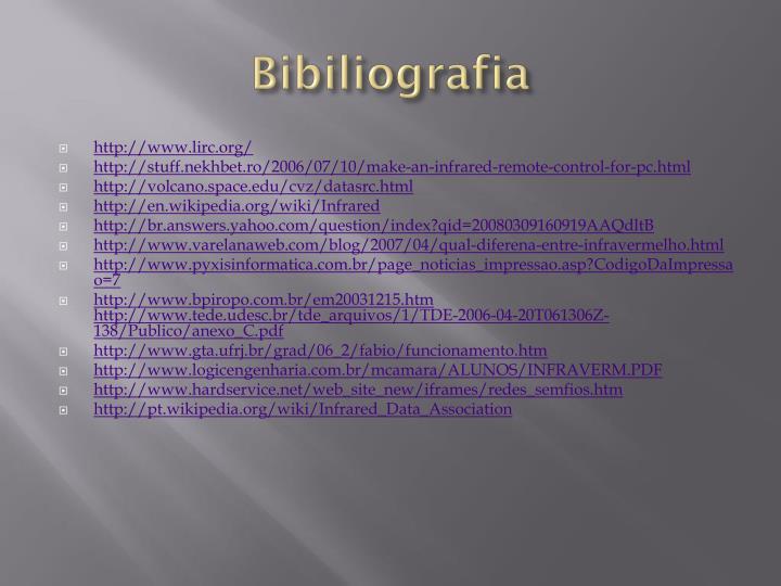 Bibiliografia