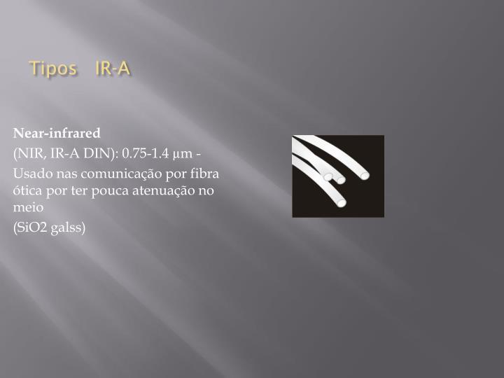 Tipos   IR-A