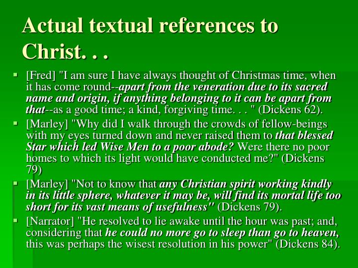 Actual textual references to Christ. . .