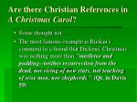 are there christian references in a christmas carol