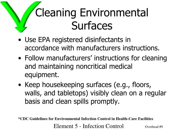 Cleaning Environmental Surfaces