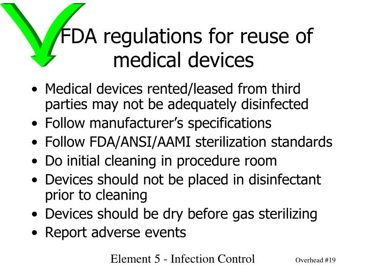 FDA regulations for reuse of medical devices