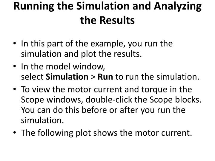 Running the Simulation and Analyzing the Results