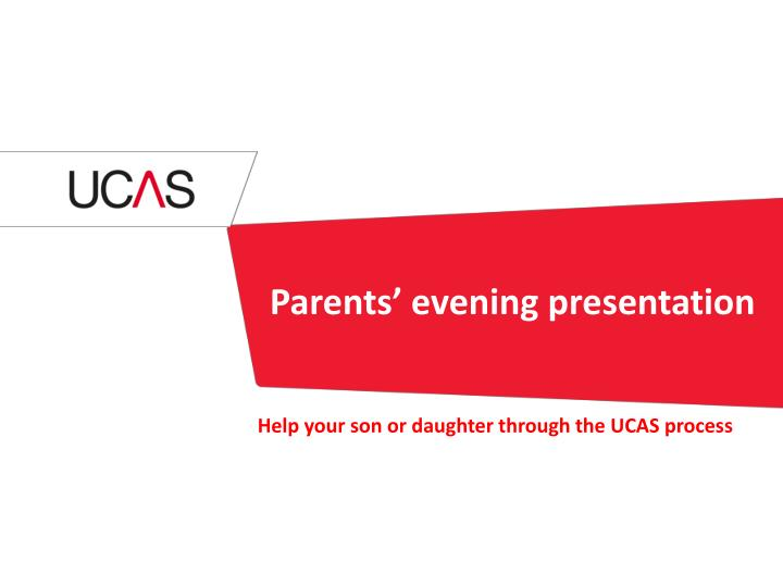 Parents evening presentation