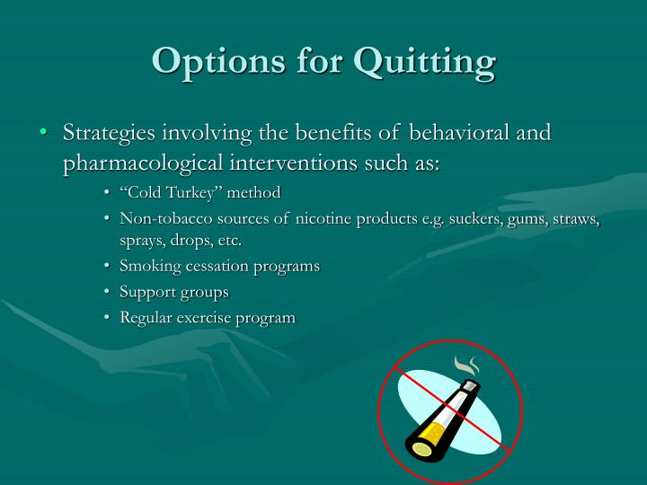 Options for Quitting