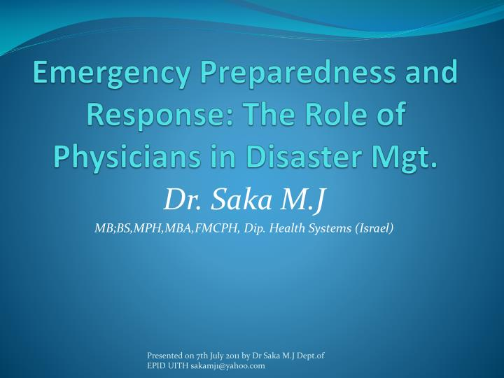essay on preparedness for disaster