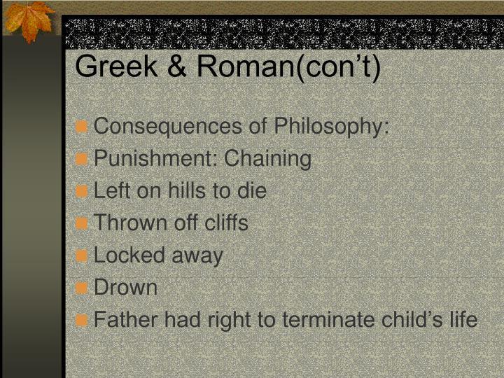 Greek & Roman(con't)