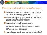 government and the private sector