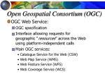 open geospatial consortium ogc