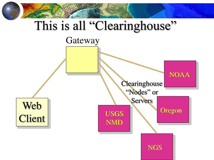 "This is all ""Clearinghouse"""