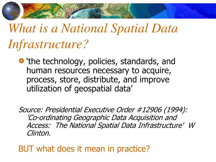 What is a National Spatial Data Infrastructure?