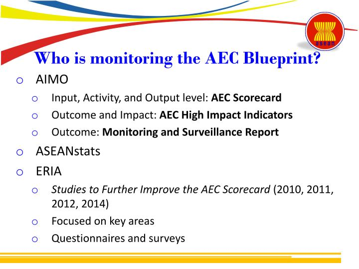 Who is monitoring the AEC Blueprint?