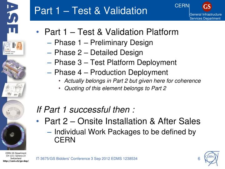 Part 1 – Test & Validation