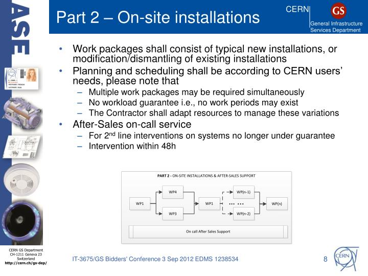 Part 2 – On-site installations