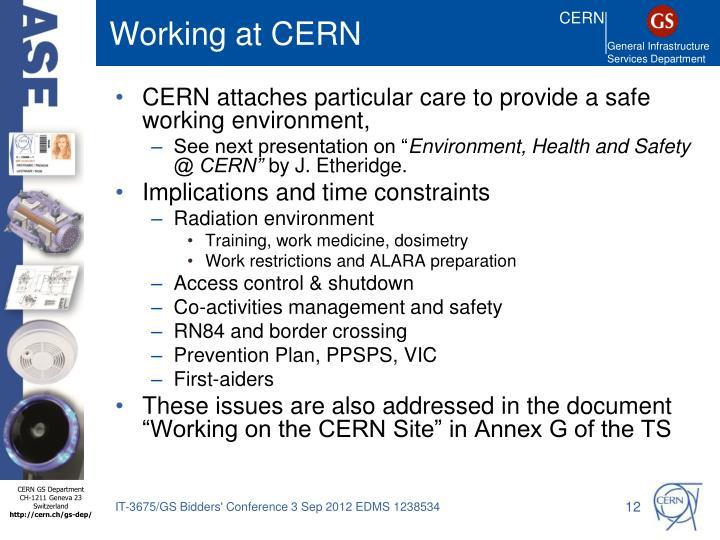 Working at CERN
