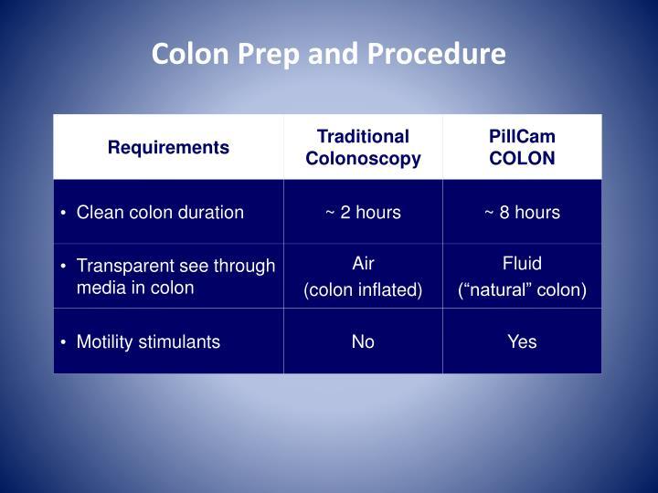 Colon Prep and Procedure