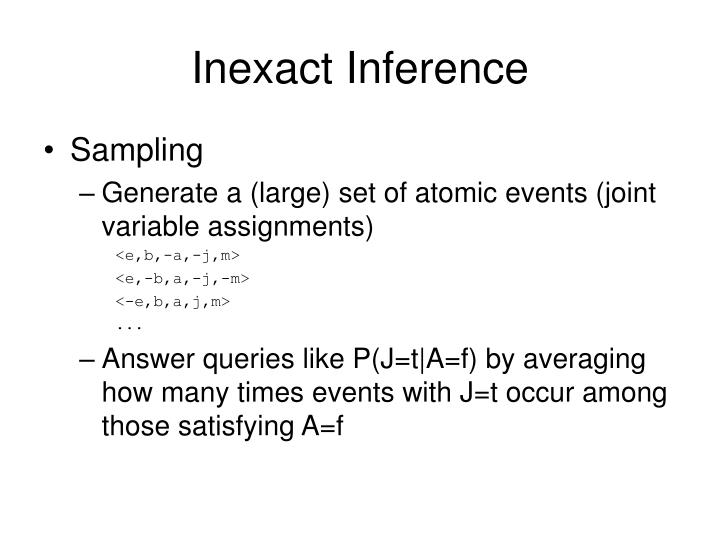 Inexact Inference
