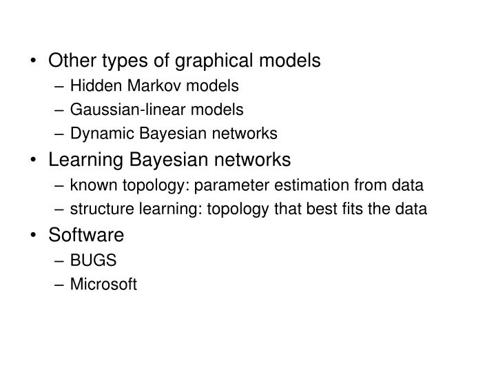 Other types of graphical models